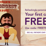 2 Hours Only: Free Father's Day Card with Free Shipping from Treat