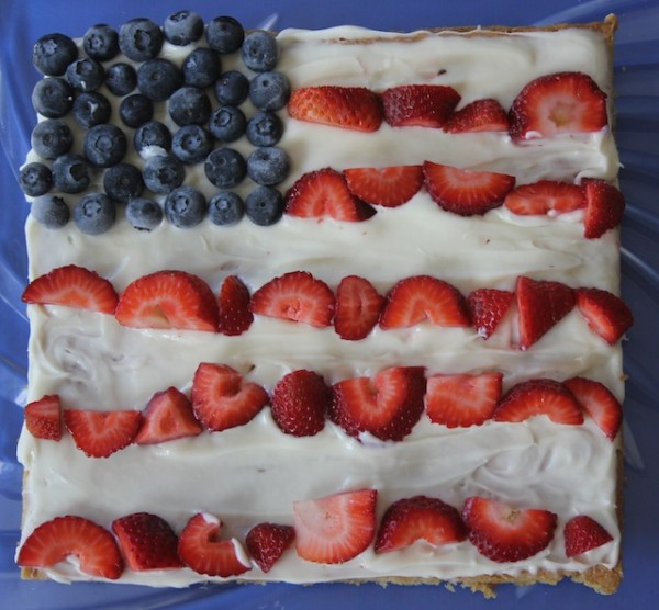 This fruit pizza is so easy to make and perfect for any patriotic holiday.