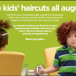 Free JC Penney Back to School Haircut for JCP Rewards Members in August