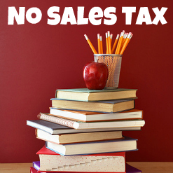 Save money back to school shopping when you shop during your state's Tax Free weekend.  Check the list to see if your state participates.
