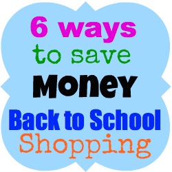 ways to save money back to school shopping