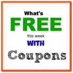 What's Free with Coupons this Week: Through August 18