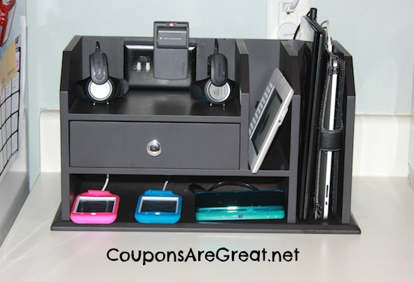Create a charging station for all your electronic needs. Customize it to the devices you own!