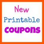 New Printable Coupons on August 1