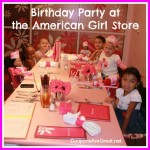 birthday party at american girl store