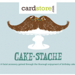 cardstore free card cakestache