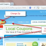 change coupons zip code