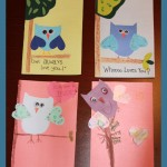 crafts for kids owl cards