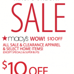 Macy's Printable Coupon: Save $10 off Your Purchase of $25 or More