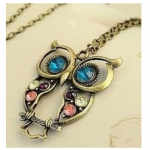 Owl Necklaces: Colorful Owl Pendant Necklace Only $2.69 Shipped
