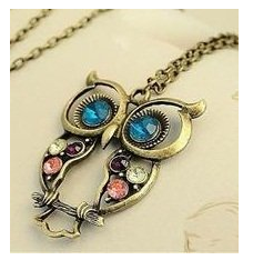 Owl necklaces colorful owl pendant necklace only 269 shipped the mail lady brought us a fun owl clock locket necklace from amazon the other day to say that my girls were excited about this little owl clock necklace mozeypictures Images