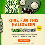 Free Plants vs. Zombies for Halloween 2012