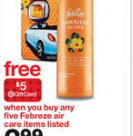 target free febreze after gift card