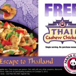 Panda Express Free Entree: Free Single Serving of Thai Cashew Chicken