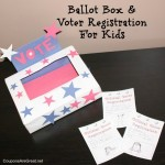 ballot box and voter registration for kids