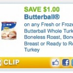 Printable Turkey Coupons: Save $1.00 on Butterball Fresh or Frozen Whole Turkeys