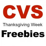 CVS Thankgiving Week Freebies