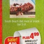 South Beach Meal Bars Printable Coupon Plus $2 Money Maker at CVS