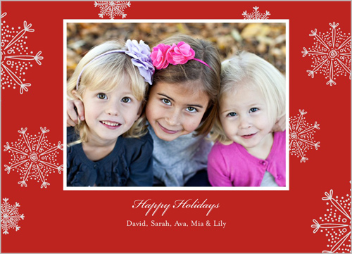 From the family holiday snowflake card to