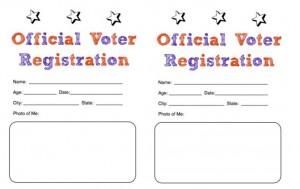 Election Day Craft: Voter Registration Card for Preschooler and ...