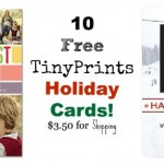 20 Free TinyPrints Holiday Cards (Pay $5.99 Shipping)