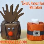 Christmas Crafts: Toilet Paper Santa and Reindeer