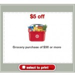 Target Coupon: Save $5 off a $30 Grocery Purchase