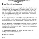 from the desk of santa claus letter to touch elf