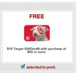 Back Again: Free $10 Target Gift Card with $50 purchase Coupon