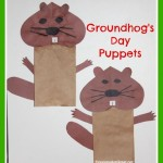 Make Groundhog Day Puppets