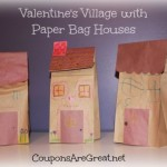 Valentine's Village with Paper Bag Houses