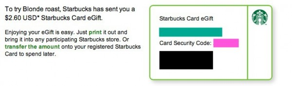 Free starbucks gift card get 260 to try starbucks blonde roast you negle Images