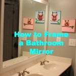 how to frame a bathroom mirror with moudling