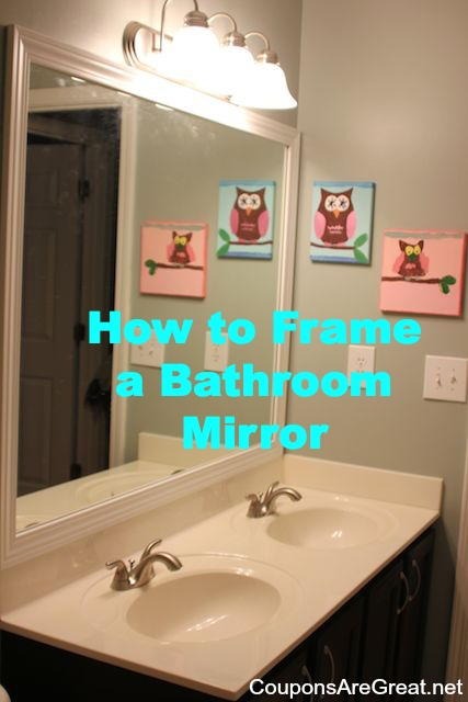 How to frame a bathroom mirror with moulding for How to frame mirror in bathroom