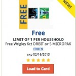 Free Wrigley 6ct ORBIT or 5 MICROPAK