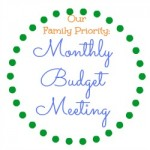 family monthly budget meeting
