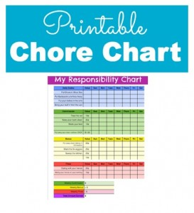 photo relating to Printable Chore Chart for Kids named Accountability and Chore Chart for Youngsters with Printable Chore