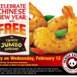 free tangy jumbo shrimp panda express
