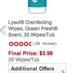 staples free lysol wipes