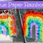 tissue paper rainbows