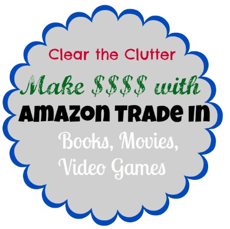 Did you know you can trade your old video games, electronics, books, and more to Amazon? Your funds will be available as an amazon gift card. This is a great way to get rid of things you don't use anymore!