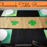 complete burlap shamrock table runner