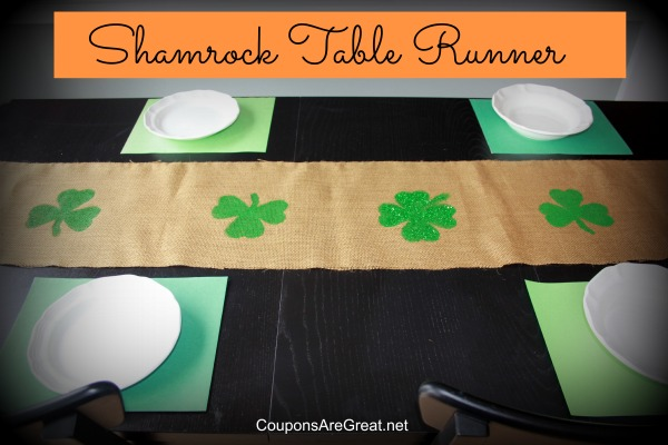 Craft How to Make a Burlap Shamrock Table Runner