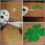 create a shamrock table runner tutorial