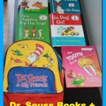 dr. seuss books and backpack