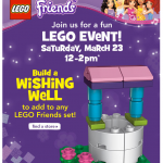 Free Lego Friends Wishing Well at Toys R Us