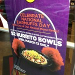 moes burrito bowl earmuffs day