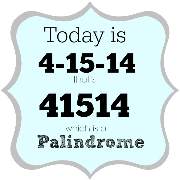 palindrome week 41514