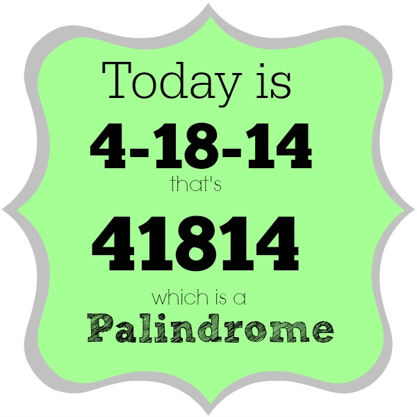 palindrome week 41914
