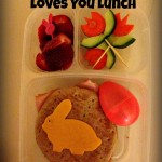 Somebunny Loves You Bunny Bento Lunch with Lunch Note